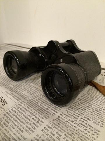 Vintage HURRICANE レザーケース付 双眼鏡