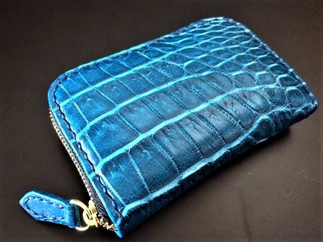 Crocodile coin case クロコダイルコインケース ブルー