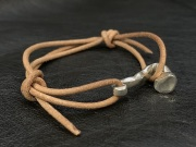 SPIKE LEATHER CORD BRACELET スパイクレザーコードブレスレット