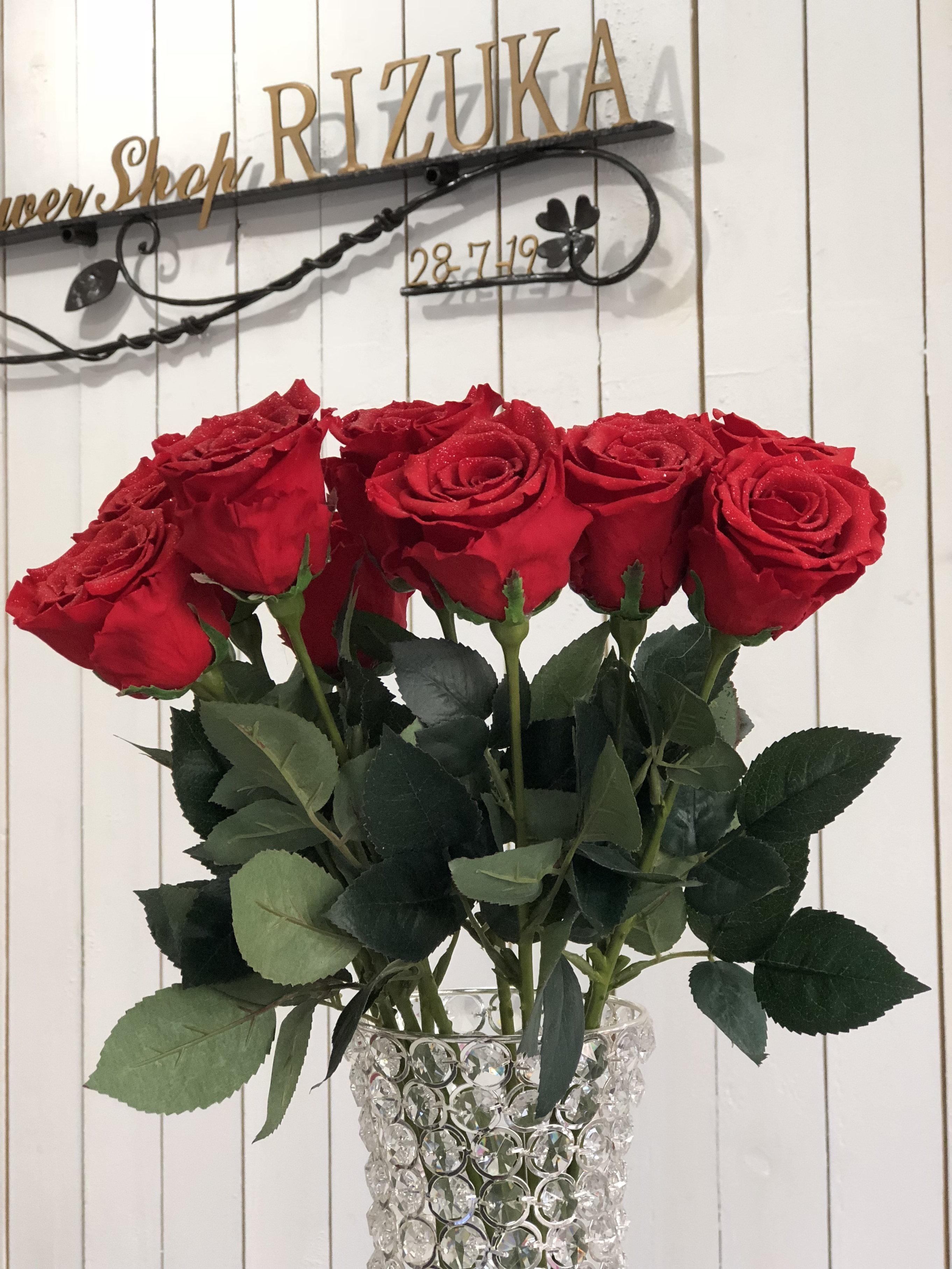 池袋 プリザーブドフラワー専門店 フラワーショップリズカ 赤バラプリザーブドフラワー 花束ブーケ