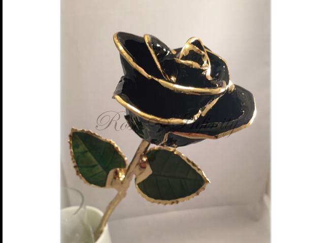 高級・特別なバラ フラワーギフト専門店 フラワーショップリズカ 24Kゴールドカラーローズ ブラック