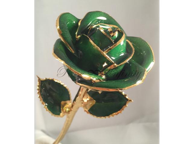 高級・特別なバラ フラワーギフト専門店 フラワーショップリズカ 24Kゴールドカラーローズ アイリッシュグリーン