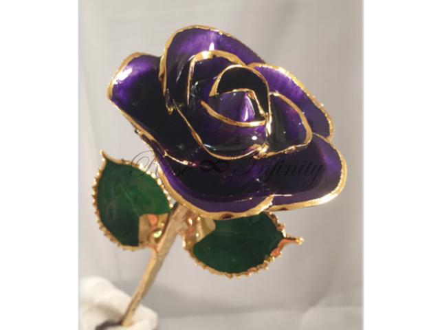 高級・特別なバラ フラワーギフト専門店 フラワーショップリズカ 24Kゴールドカラーローズ パープル
