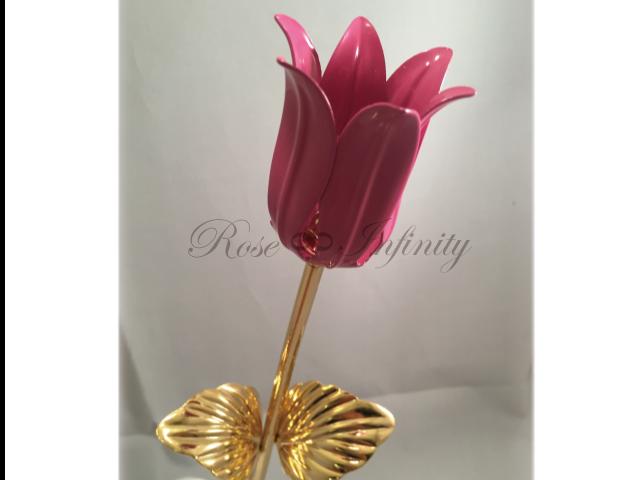 高級・特別なバラ フラワーギフト専門店 フラワーショップリズカ 24Kゴールドチューリップ ピンク
