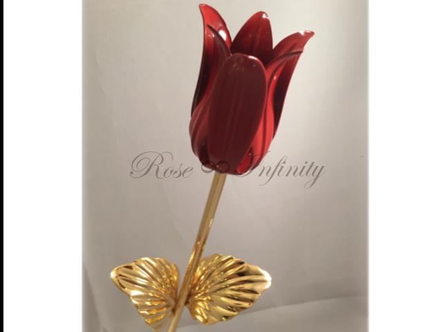高級・特別なバラ フラワーギフト専門店 フラワーショップリズカ 24Kゴールドチューリップ レッド