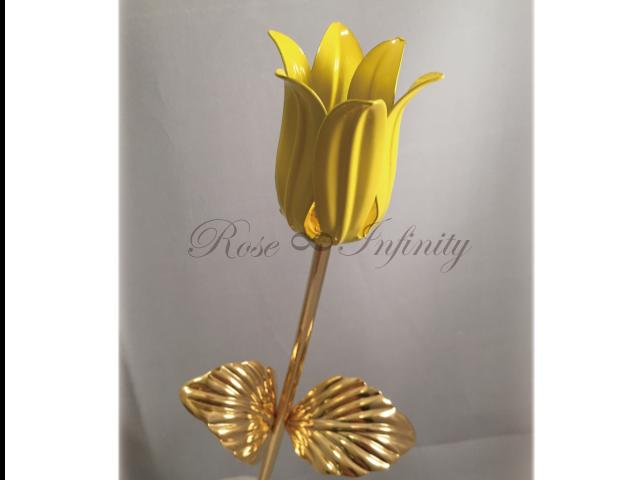 高級・特別なバラ フラワーギフト専門店 フラワーショップリズカ 24Kゴールドチューリップ イエロー