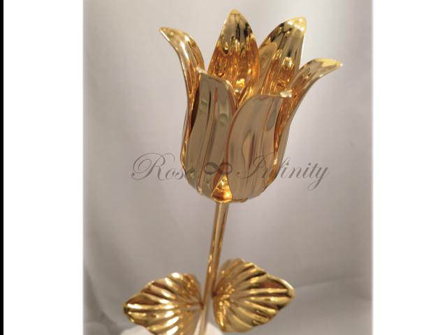 高級・特別なバラ フラワーギフト専門店 フラワーショップリズカ 24Kゴールドチューリップ