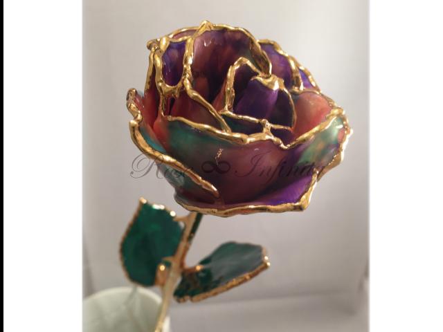 高級・特別なバラ フラワーギフト専門店 フラワーショップリズカ 24Kゴールドミステリアスローズ オーロラ