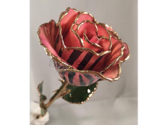 高級・特別なバラ フラワーギフト専門店 フラワーショップリズカ 24Kゴールドミステリアスローズ ピンク&ブラック