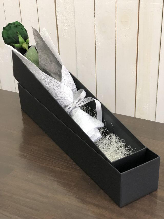 池袋 プリザーブドフラワー専門店 フラワーショップリズカ ダイヤモンドローズプリザーブドフラワー グリーン