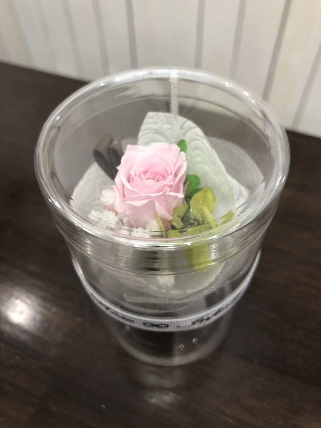 池袋 プリザーブドフラワー専門店 フラワーショップリズカ手のひらサイズの可愛い花束ブーケピンク
