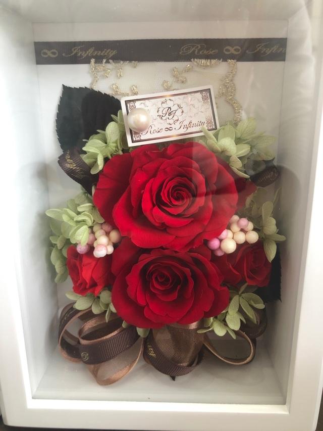 池袋 プリザーブドフラワー専門店 フラワーショップリズカ フォトフレーム 写真立て 人気 フォト 結婚祝 販売