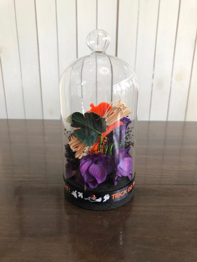 池袋 プリザーブドフラワー 専門店 フラワーショップリズカ ハロウィン お家 ハロウィンアレンジ  販売 ガラスドーム