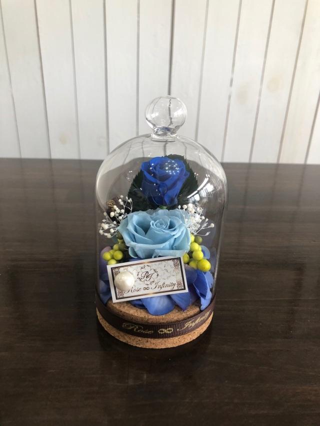 池袋 プリザーブドフラワー専門店 フラワーショップリズカ コルク ガラスドーム 人気 バラ 赤 ギフト 店舗 青バラ 販売