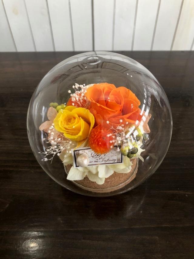 池袋 プリザーブドフラワー 専門店 フラワーショップリズカ 東京 販売 店舗 ガラスドーム ラウンド
