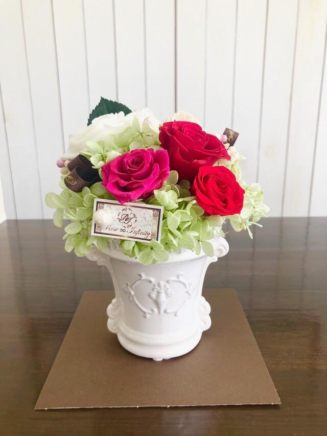 池袋 プリザーブドフラワー 専門店 フラワーショップリズカ 店舗 販売 ギフト バラ お花 紫 バラ 青 バラ