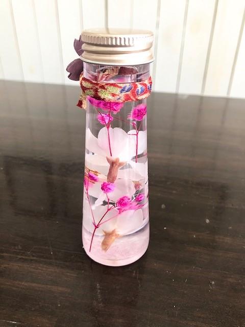 池袋 プリザーブドフラワー専門店 フラワーショップリズカ ハーバリウム 桜 サクラ 春 期間限定 販売