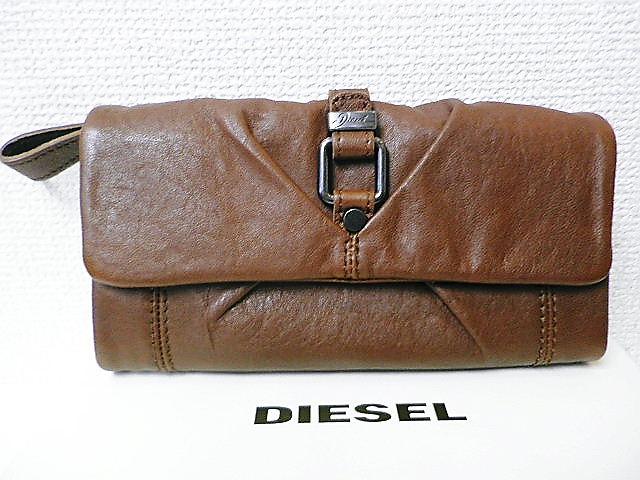 『送料無料』『特別価格』 DIESEL(ディーゼル) シープレザー長財布/ロングウォレット(ブラウン)正規品00XT11PS142