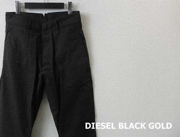 DIESEL BLACK GOLD (ディーゼルブラックゴールド) ピンストライプテーパードデザインパンツ/スラックスパンツ (44/46) 正規品