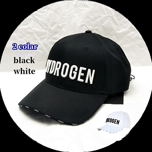 HYDROGEN(ハイドロゲン) ロゴデザインキャップ 2 colar(ブラック/ホワイト)