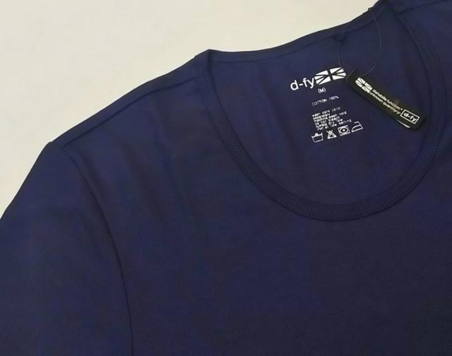 【最終値下げ!大処分価格!】【プレミアムサマーセール!】 【2枚セット/訳あり】d-fy(ディーエフワイ) Uネックシルケット半袖Tシャツ(パープルネイビー)M2枚
