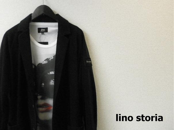 lino storia(リノストーリア) スウェードエンブレム2Bパイルテーラードジャケット (ブラック)  M/L
