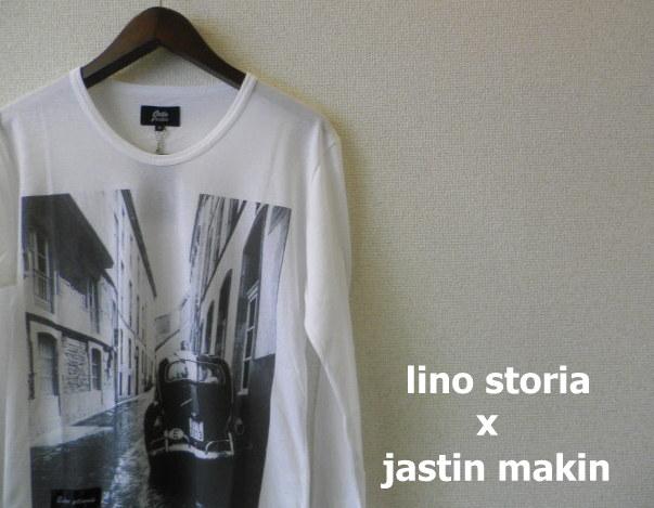 lino storia x jastin makin ビートルフォト長袖Tシャツ/プリントロンT (ホワイト) S/M/L/XL  『限定品』