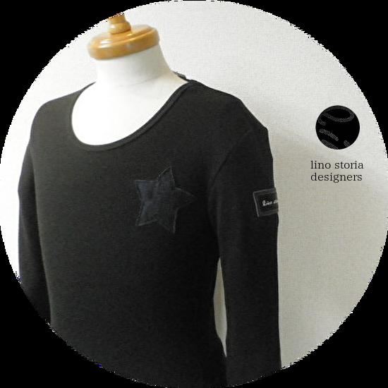 【大幅プライスダウン!プレミアムタイムセール!】lino storia(リノ ストーリア) ネイビーカモフラスター サーマルUネック長袖Tシャツ (ブラック) M/L/XL 『限定品』