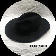 DIESEL(ディーゼル) ブリムリボン中折れハット/フェルトハット/帽子(ブラック) 男女兼用