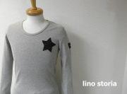 【プレミアムタイムセール!】 lino storia(リノ ストーリア) ネイビーカモフラスター サーマルUネック長袖Tシャツ (グレー) M/L/XL 『限定品』