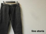 【プレミアムタイムセール!】 lino storia(リノ ストーリア) スリムフィットフリースジョガーパンツ/スライバーニットイージーパンツ (ブラック) S/M/L/XL