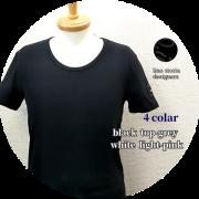 【大幅プライスダウン!プレミアムタイムセール!】【人気No.1シリーズ】 lino storia(リノ ストーリア) レザーエンブレムスリムフィット針抜きUネック半袖Tシャツ 4 colar(ブラック/トップグレー/ホワイト/ライトピンク) M/L/XL