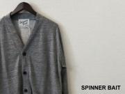 【プレミアムタイムセール!】 SPINNER BAIT (スピナーベイト) カーディガン/ラグラン裏毛カーディガン( チャコールグレー) 40(M)/42(L)/44(XL)