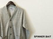 【プレミアムタイムセール!】 SPINNER BAIT (スピナーベイト) カーディガン/ラグラン裏毛カーディガン (モクグレー) 40(M)/42(L)/44(XL)