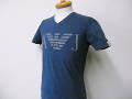 『特別価格』 ARMANI JEANS(アルマーニジーンズ) スリムフィットAJデザインVネック半袖Tシャツ(ネイビー) S/M/L