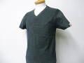 『特別価格』 ARMANI JEANS(アルマーニジーンズ) スリムフィットAJデザインVネック半袖Tシャツ(ダークグレー) S/M/L