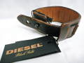 『プレミアムセール!』 DIESEL BLACK GOLD(ディーゼル ブラック ゴールド) レザーブレスレット/バングル(ブラウン)正規品00C9MV