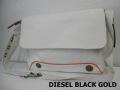 DIESEL BLACK GOLD(ディーゼル ブラック ゴールド)キャンバスxレザーショルダーバッッグ(オフホワイト)正規品