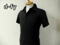 【プレミアムサマーセール!】 d-fy(ディーエフワイ) シルケット半袖ポロシャツ(ブラック)M/L