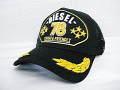 『特別価格』 DIESEL(ディーゼル) ロゴ刺繍デザインメッシュキャップ(ブラック)正規品