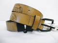 『送料無料』『特別価格』 DIESEL(ディーゼル) ブレイブマン型押しバックスリットレザーベルト 正規品 85/90/95