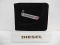 『特別価格』 DIESEL(ディーゼル) ジーンズデザインレザー2つ折り財布/HIRESH (ブラック)正規品 X02108 P0161 H2388