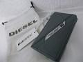 『特別価格』 DIESEL(ディーゼル) メタルロゴプレートレザーキーケース(グレー) X00445 正規品/ユニセックス