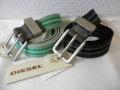 『特別価格』 DIESEL(ディーゼル) レザーアクセントラインデザインベルト 2 colar(グリーン/ブラック)正規品00CT5Y 80/85
