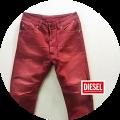 【PREMIUM TIME SALE】  DIESEL (ディーゼル) クロップドカラーパンツ/デニムパンツ (ワイン) W28~W32 【36,300円】