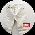【CLEARANCE SUMMER SALE 2021】 DIESEL (ディーゼル) ネップ加工デニムパンツ/ジーンズ (オフホワイト) W28~W32 【42,800円】