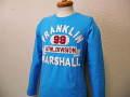 『特別価格』 FRANKLIN&MARSHALL(フランクリンマーシャル) 長袖Tシャツ/ロンT (ターコイズ) S/M/L