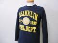 『特別価格』 FRANKLIN&MARSHALL(フランクリンマーシャル) 長袖Tシャツ/ロンT (ネイビー) S/M/L