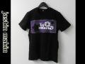 jastin makin (ジャスティンメイキン) x RLISP スターxロゴパッチ カットオフデザインクルーネック半袖Tシャツ(ブラック) M/L