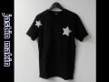 jastin makin (ジャスティンメイキン) x RLISP ドットスターカットオフデザインクルーネック半袖Tシャツ(ブラック)  M/L